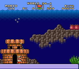 Super Mario Brothers Deluxe - OMG World 36-1 - User Screenshot